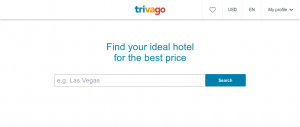 Trivag example - one of the best travel websites