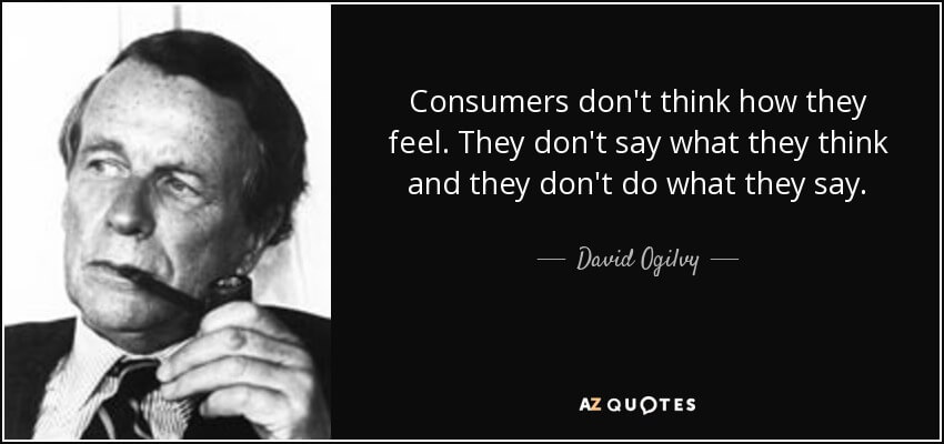 Daivd Ogilvys quote you need to consider when doing airline user research