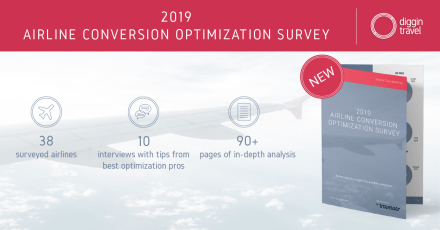 Diggintravel 2019 Airline CRO Survey and Research, insights from best airline ecommerce experts