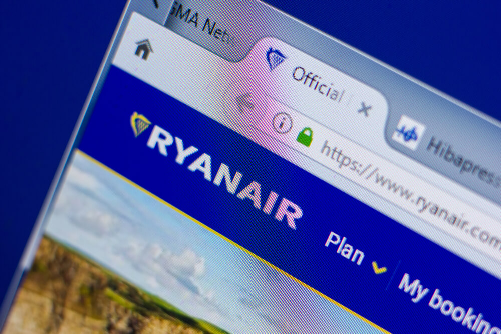 Ryanair website was optimized for airline retailing