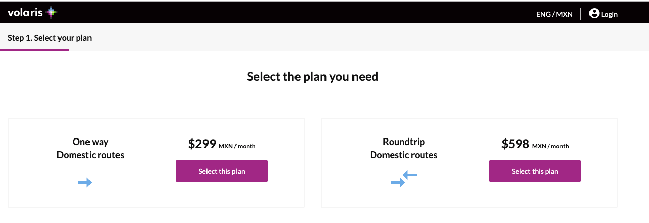 Volaris is offering flight subscription service v.pass